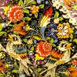 Detail of an elaborately painted plate