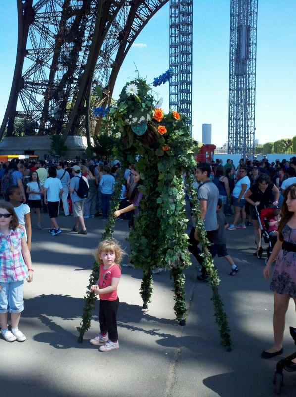 Eiffel Tower Child with Mime