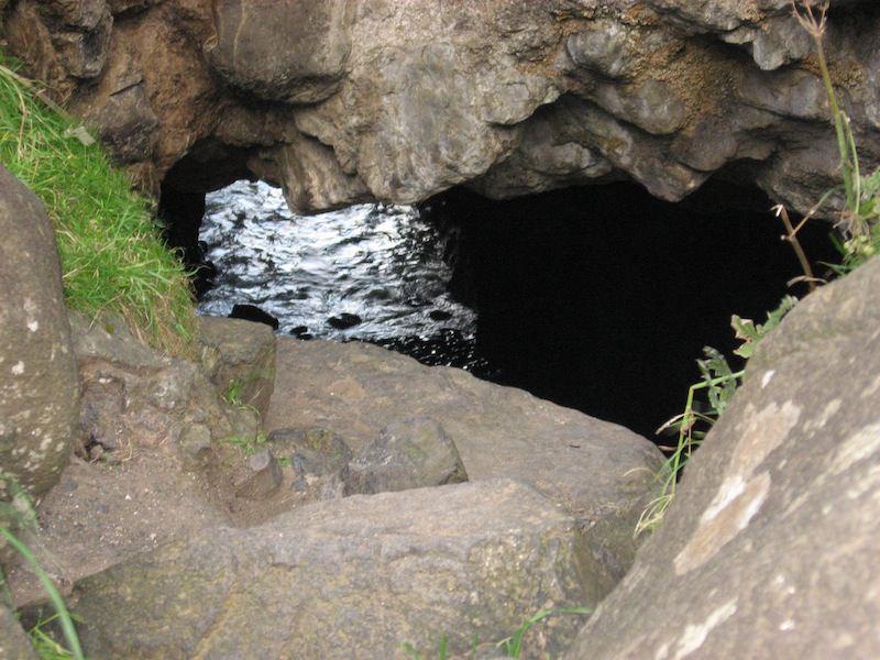 Hole and Ocean Below
