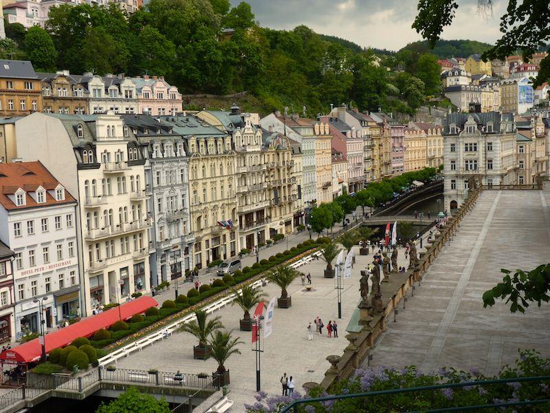 Downtown Promenade in Karlovy Vary