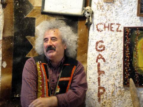 Master Galip in his studio