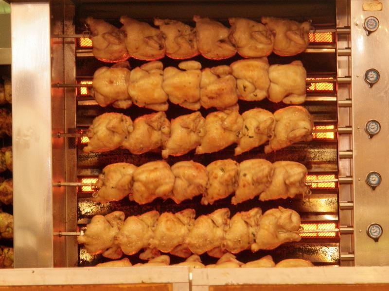 Roast chickens... an Oktoberfest must-try