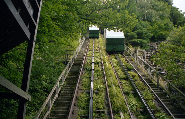 The Water Balanced Cliff Railway - Photo by Dr. Neil Clifton