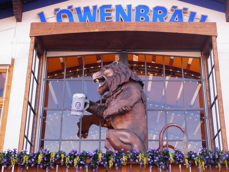 The Lowenbrau Lion