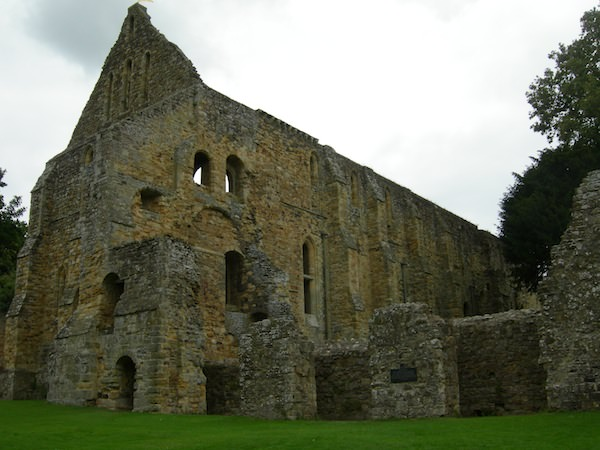 The stone remains of the chapter house and dormitory.