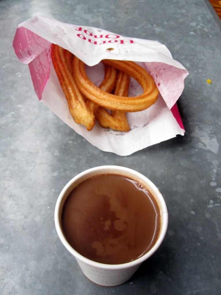 Churrus and chocolate from Mercado de San Miguel