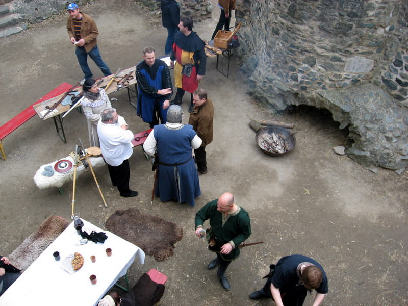 Medieval Re-enactors at Frankenstein Castle