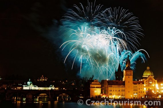 New Years Eve Fireworks in Prague