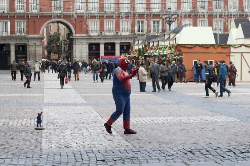Spiderman at Plaza-Mayor