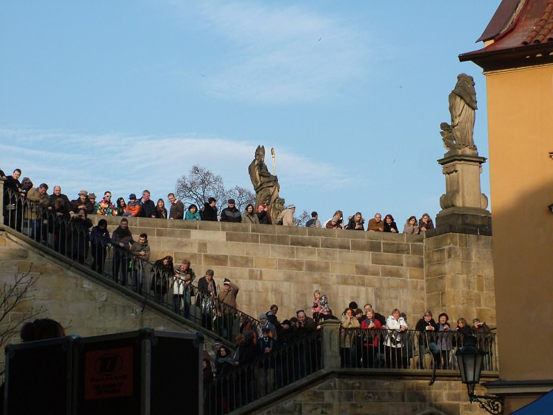 Along the Charles Bridge