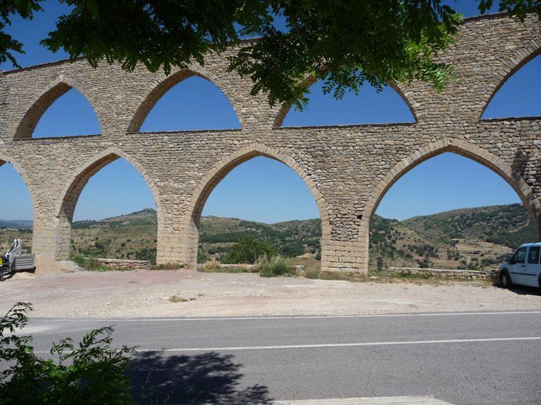 Gothic Aqueduct outside Morella