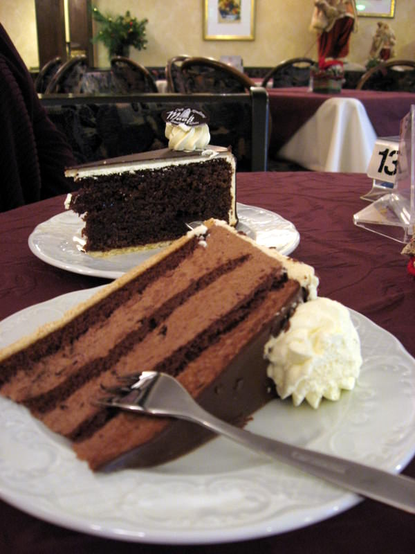 Cake and coffee at Cafe Maaß