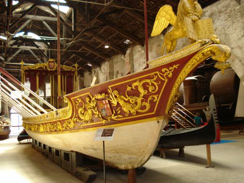 Doge's Barge in the Venice Naval Museum