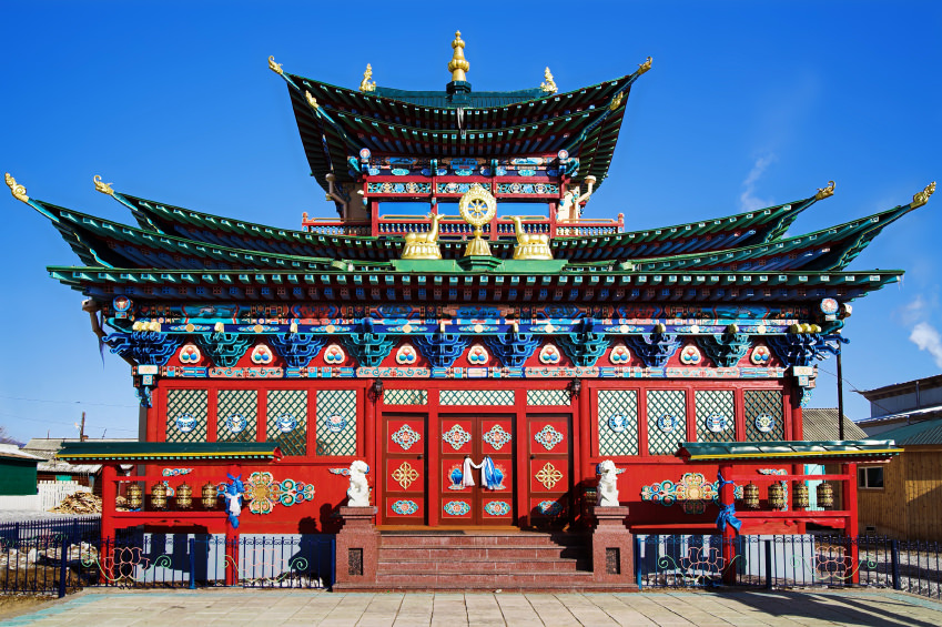 Temple of the Pure Land in the Ivolginsky Datsan, Buryatia, Russia