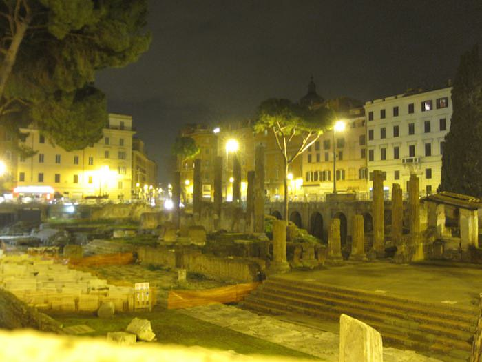 Largo di Torre Argentina and alleged site of Julius Caesar's death