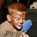 Face painting at the Masopust Zoo by Jiri Trojanek