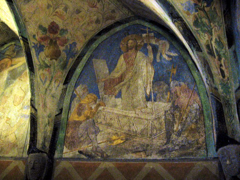 Medieval art in the Marksburg Castle chapel