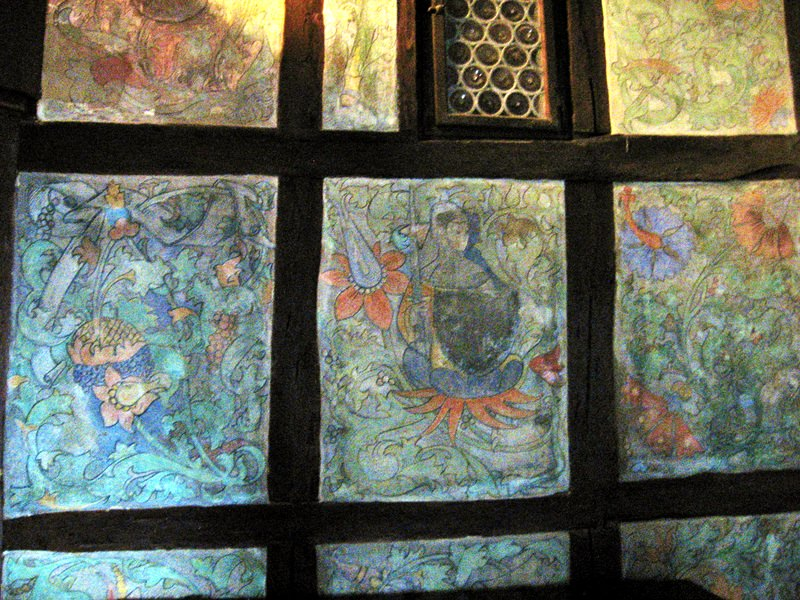 Medieval paintings in the Marksburg Castle dining hall