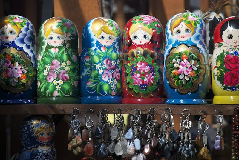 Trinkets in Listvyanka Market
