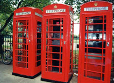 Great Britain phone booths