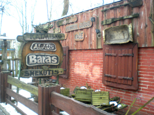 The exterior of the very cozy Šnekutis, in the Užupis neighborhood of Vilnius