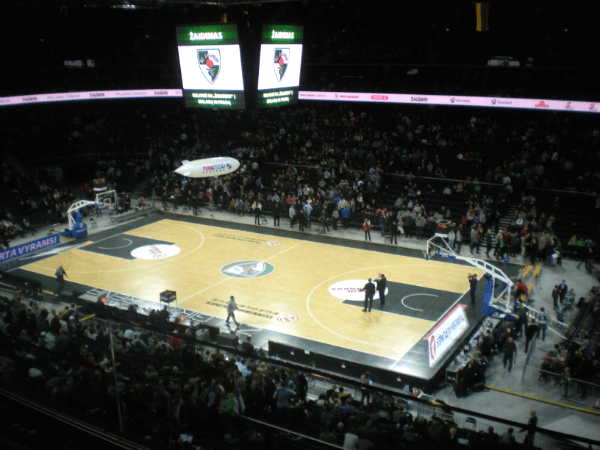 Žalgiris Arena just before tipoff