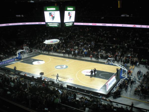 Žalgiris Arena just before tipoff