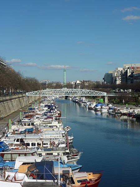 Bastille from the Port de l'Arsenal