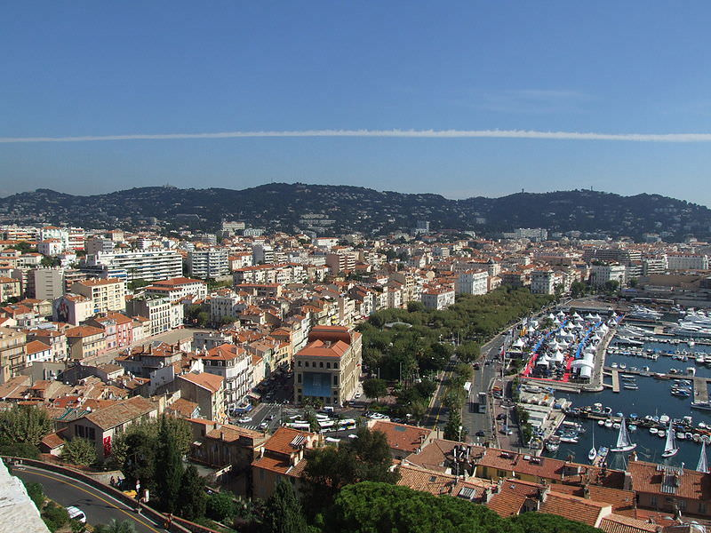 Overhead view of Cannes