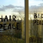 Close up hair bed peace