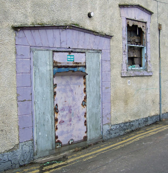 Exit Door of the old Oxford Cinema