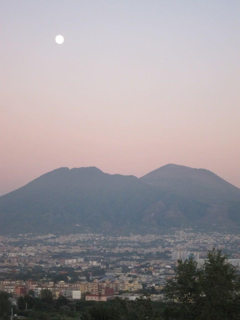 Mt. Vesuvius from a distance