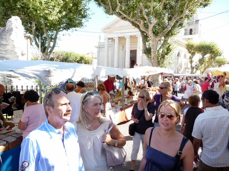 St Remy on market day