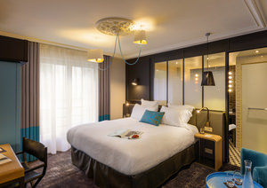 bedroom in the Terrass hotel