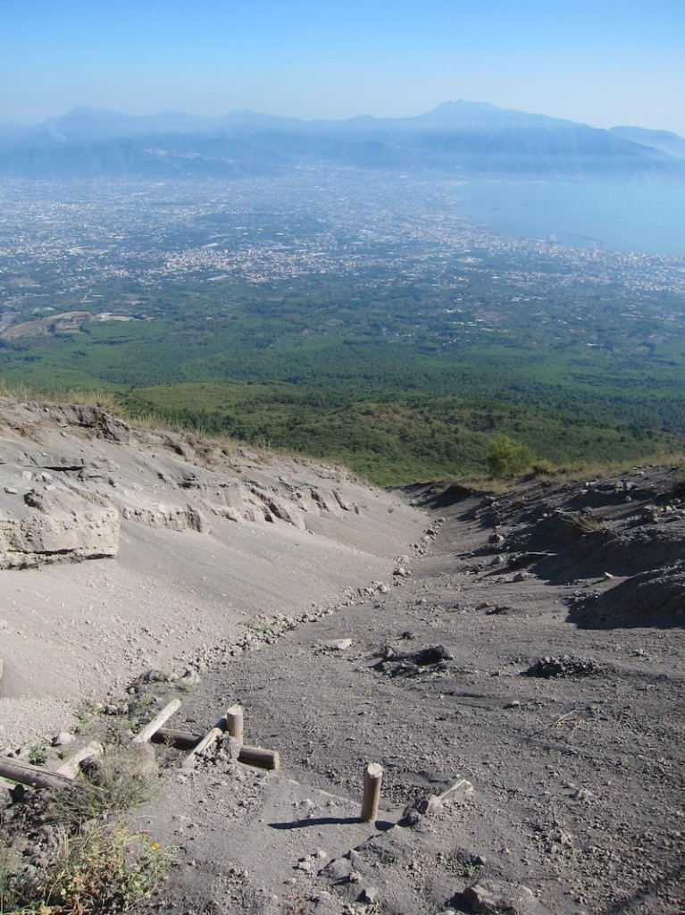 The view from Mt. Vesuvius