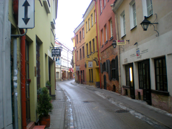 Stikliu gatve, a great side street in Old Vilnius
