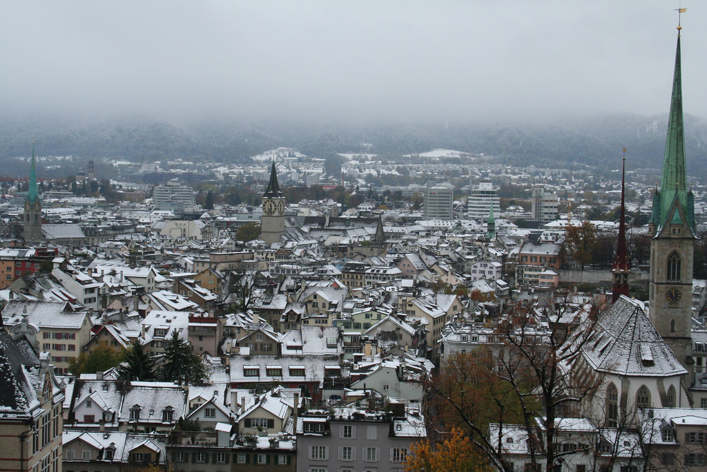 Zurich in Snow by taschenkruemmel