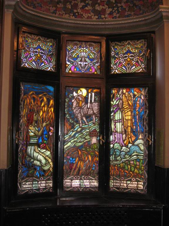 Julia window panel in the Culture Palace