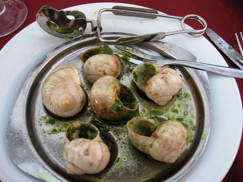 You can learn to make Escargot bordeaux at one of the cooking schools in France