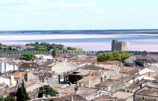 The Camargue Salt Fields taken from Aigues Mortes