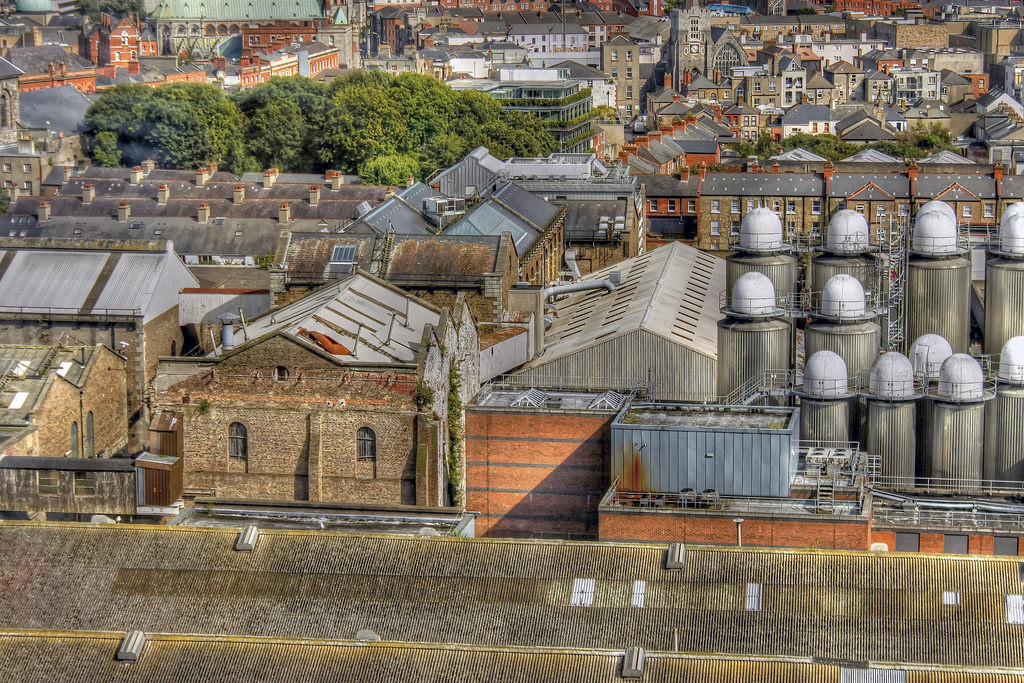 View from Gravity Bar at Guinness Storehouse (Dublin, Ireland) by psyberartist