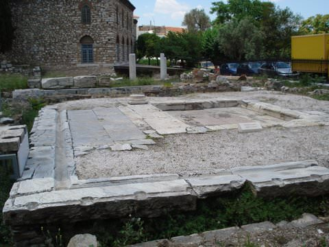 Roman latrines at the Forum