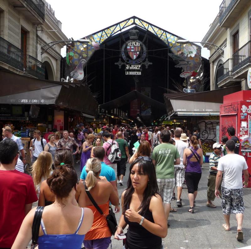 Le Boqueria Market in Barcelona
