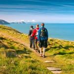 Walkers on Pembrokeshire Wales Coast Path, Ceibwr Photo © Crown copyright (2012) Visit Wales