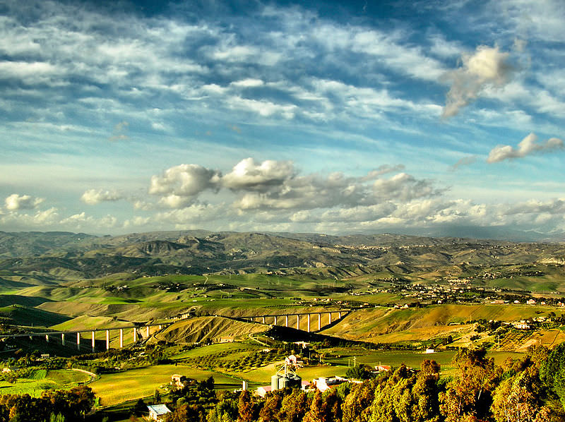 Sicily's Rolling Hills by Giampaolo Macorig
