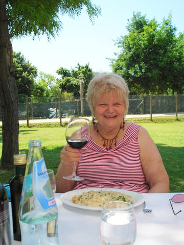 Enjoying lunch at Restorante Villa