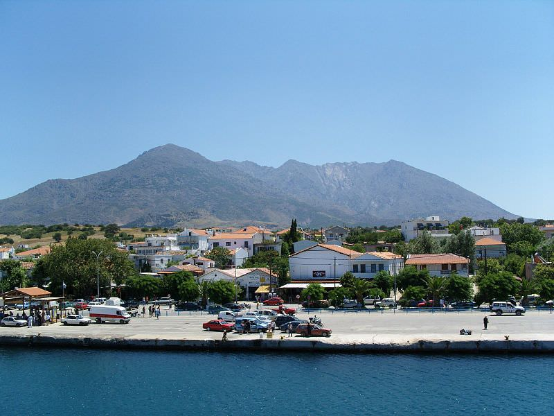 Samothraki port of Kamariotissa