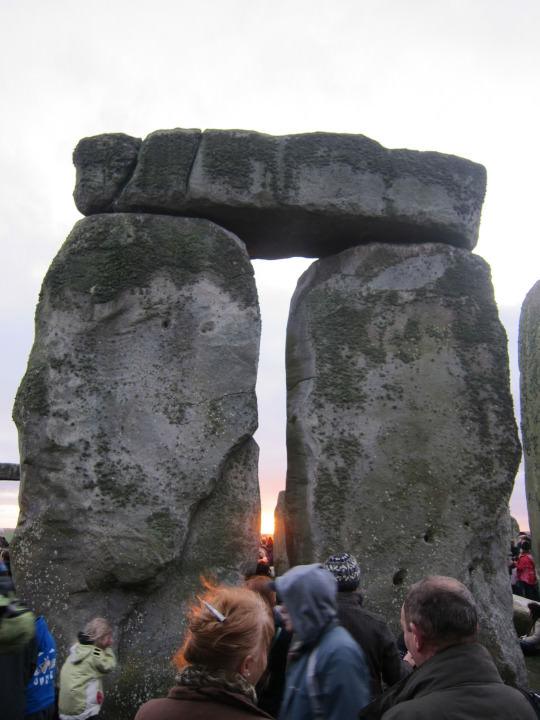 Sun between the stones