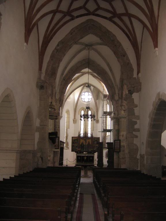 Prejmer church interior