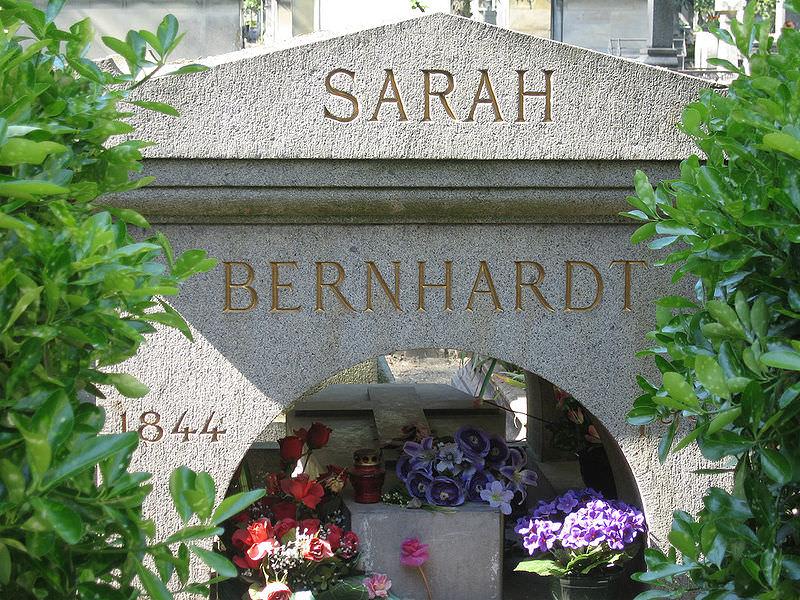 Grave of Sarah Bernhardt -Père Lachaise